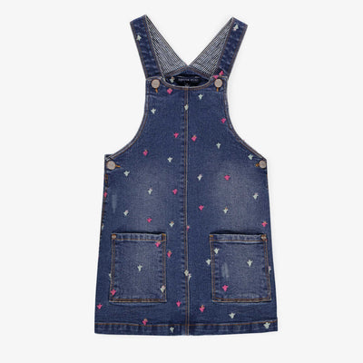 Robe salopette en denim || Denim Overall Dress