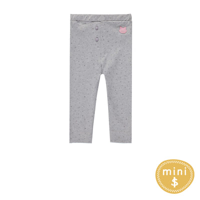 Legging gris à pois  || Grey Polka Dot Leggings