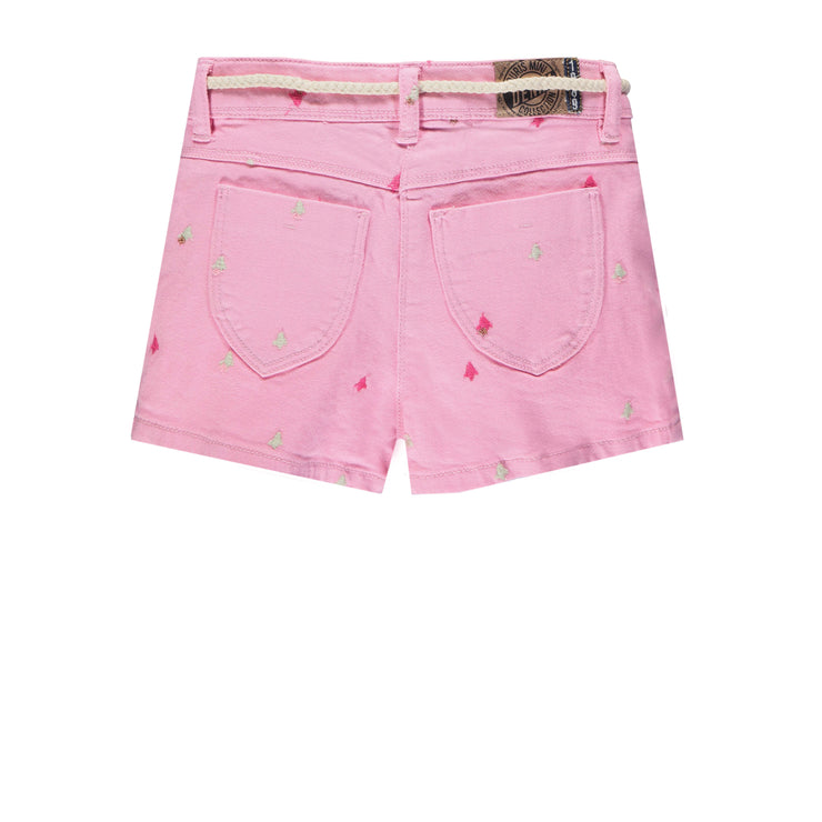 Bermuda rose de denim || Pink Denim Shorts