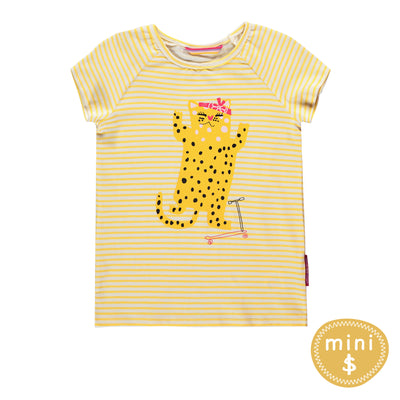 T-shirt jaune à rayures || Yellow T-Shirt with Stripes