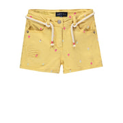 Bermuda jaune de denim || Yellow Denim Shorts
