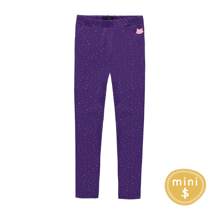 Legging mauve à pois  || Purple Polka Dot Leggings