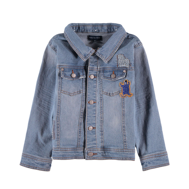 Veste en denim à capuchon || Hooded Denim Vest