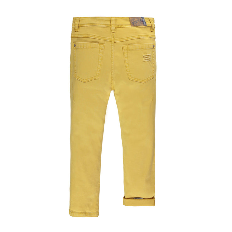 Pantalon en denim jaune - Coupe Régulière  ||Yellow Denim Pants - Regular Fit