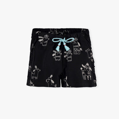 Short noir – Chiens  || Black Shorts - Dogs