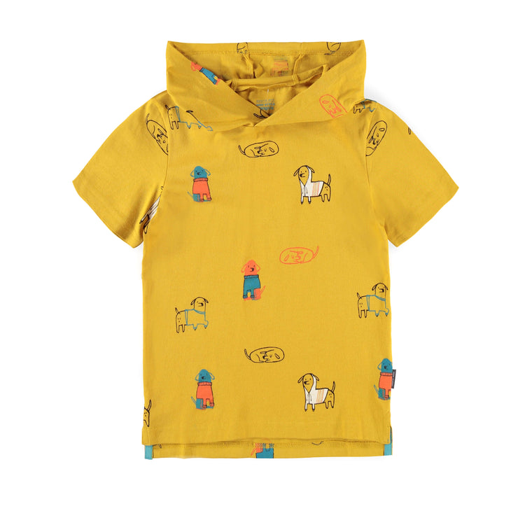 T-shirt jaune à capuchon || Yellow Hooded T-shirt