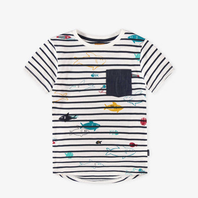 T-shirt blanc à rayures || White Striped T-shirt