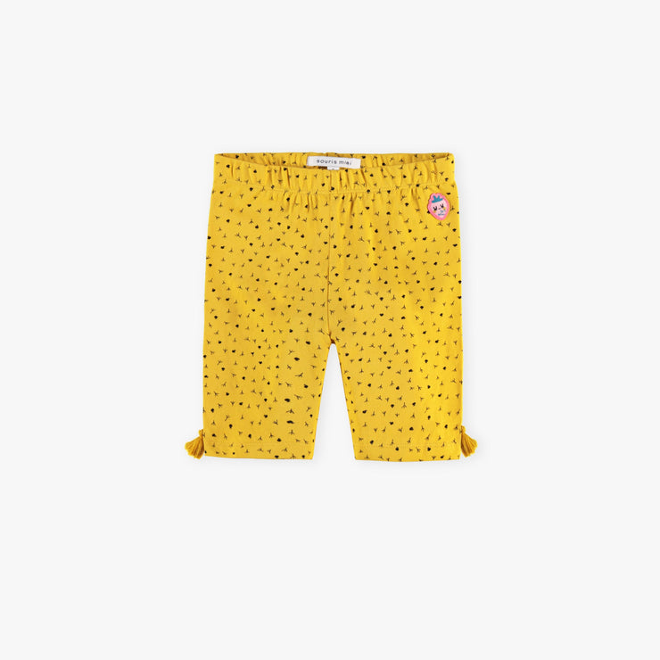 Legging court jaune || Short Yellow Leggings
