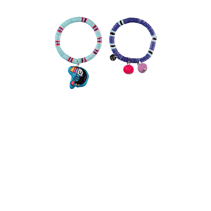 Ensemble de deux bracelets - Toucan || Set of Two Bracelets - Toucan