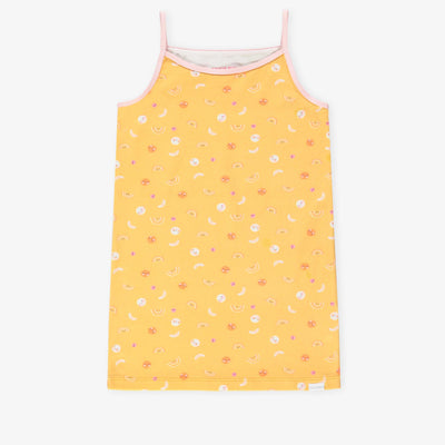 Camisole jaune à motifs || Mix & Match Yellow Tank Top
