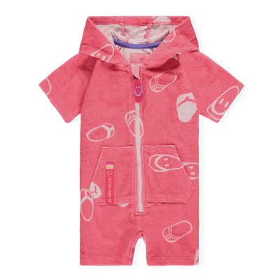 Sortie de bain en ratine rose || Pink Terry Bathrobe