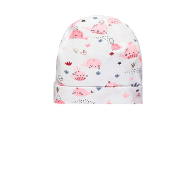 Bonnet blanc et rose || White and Pink Beanie