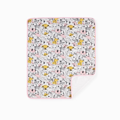 Couverture jaune et rose en jersey || Yellow and Pink Jersey Blanket