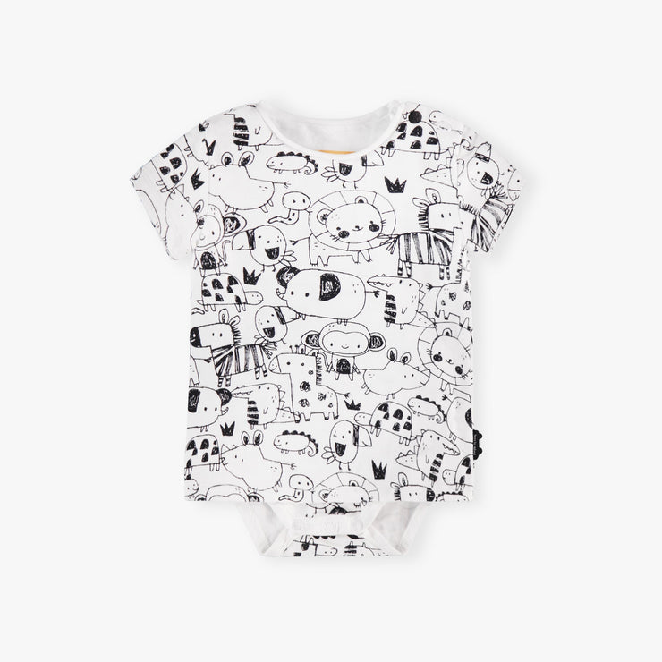 T-shirt cache-couche à manches courtes || Short-sleeve Bodysuit T-shirt