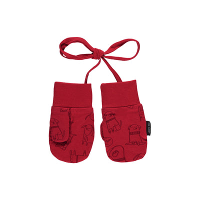Mitaines rouges en jersey || Red Jersey Mittens
