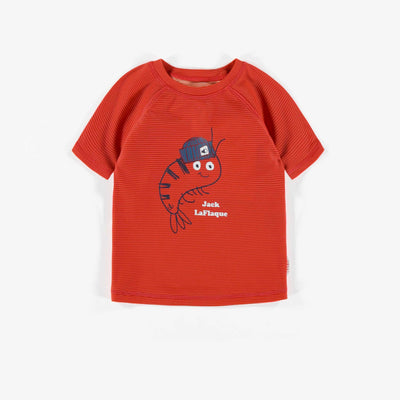 T-shirt de bain rouge, bébé garçon || Red Swim T-shirt, Baby Boy