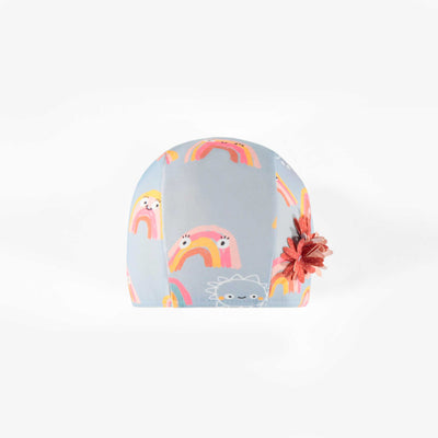 Bonnet de bain à motifs d'arc-en-ciel, bébé fille || Rainbow patterned Swim Cap, baby girl