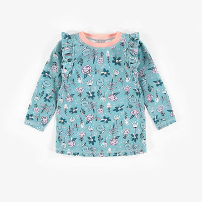 T-shirt de bain bleu à manches longues, bébé fille || Blue Swim Long-sleeve T-shirt, Baby Girl