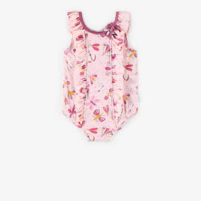 Maillot une-pièce rose, bébé fille || Pink One-piece Swimsuit, baby girl