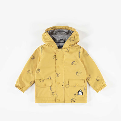 Imperméable jaune à motifs || Patterned yellow Raincoat