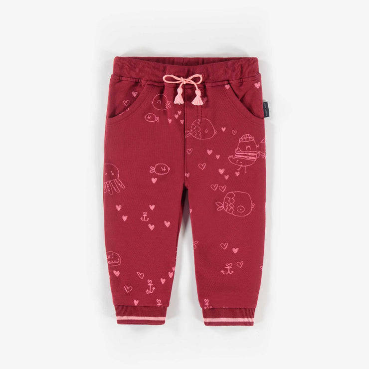 Pantalon rouge à motifs  || Red Pattern Pants