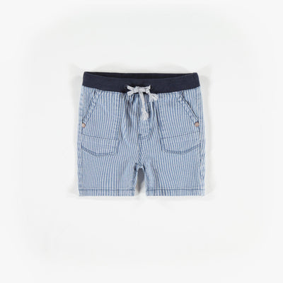 Short de denim rayé, bébé garçon  || Denim Striped Shorts, Baby Boy