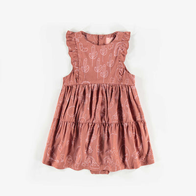 Robe cache-couche brune à motifs  || Brown Patterned Bodysuit Dress