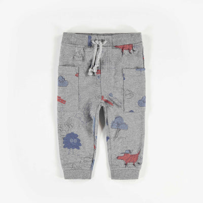 Pantalon gris à motifs, bébé garçon || Grey Patterned Pants, Baby Boy