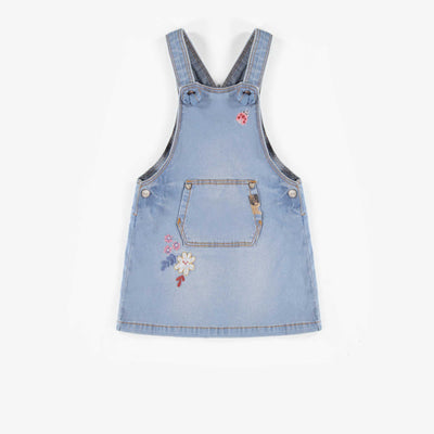 Robe salopette de denim, bébé fille  || Denim Overall Dress, baby girl