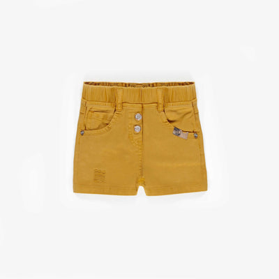 Short de denim jaune, bébé fille || Yellow Denim Shorts, baby girl