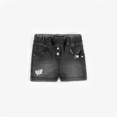 Short de denim noir, bébé fille || Black Denim Shorts, baby girl