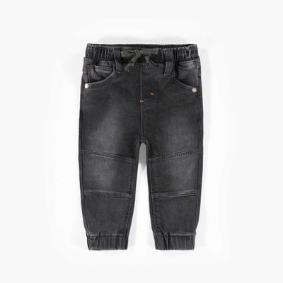 Pantalon jogging en denim noir || Black Jog Denim Pants