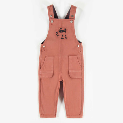 Salopette en denim coloré brun pâle || Colored Light Brown Denim Overalls