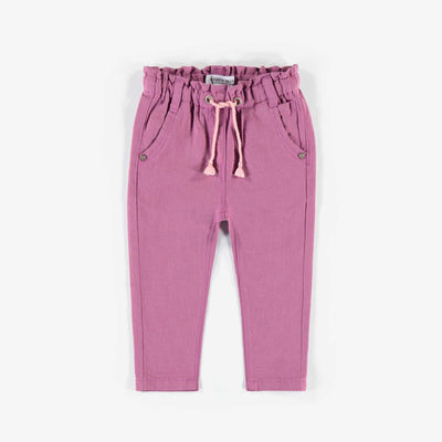 Pantalon de lin mauve, bébé fille || Purple linen Pants, baby girl