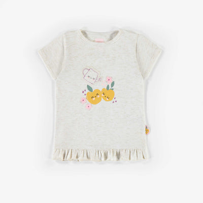 T-shirt avec motifs de légumes, bébé fille || Vegetable patterned T-shirt, baby girl