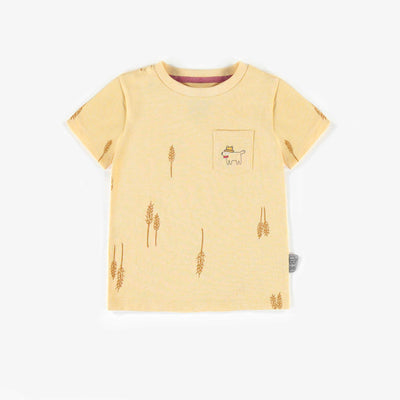T-shirt jaune avec poche, bébé garçon || Yellow T-shirt with pocket, baby boy