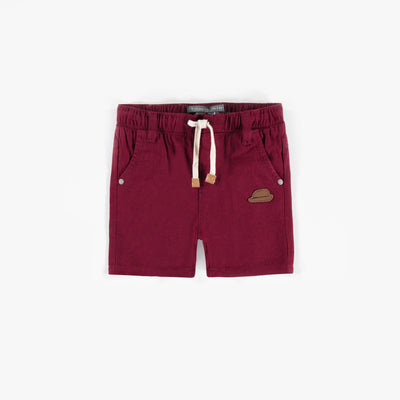 Short rouge, bébé garçon || Red Shorts, baby boy