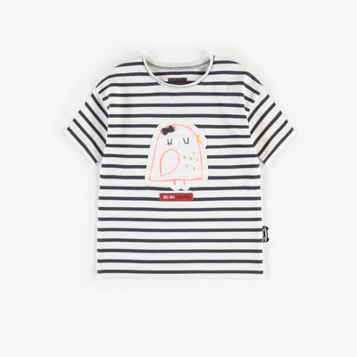 T-shirt ligné avec imprimé, bébé fille || Striped T-shirt with print, baby girl