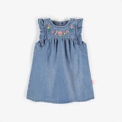 Blouse tunique en denim, bébé fille || Denim Tunic blouse, baby girl