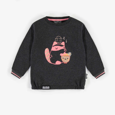 Chandail à col rond, bébé fille || Crew neck sweater, baby girl