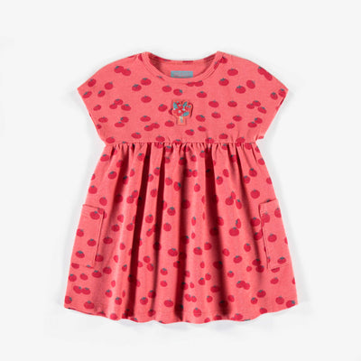 Robe rouge à motifs, bébé fille || Red patterned dress, baby girl