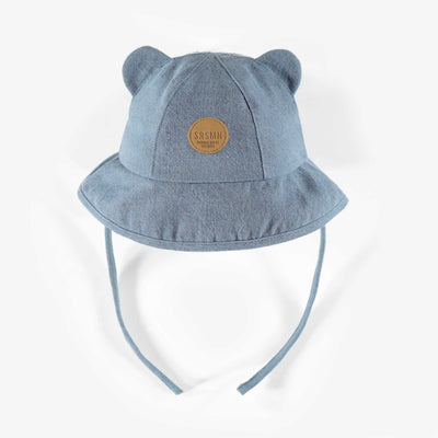 Chapeau en denim extensible, bébé fille || Stretch denim hat, baby girl