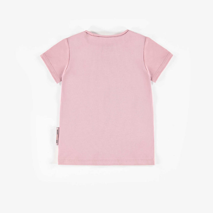 T-shirt rose à manches courtes, bébé fille  || Pink Short-Sleeve T-Shirt, Baby Girl