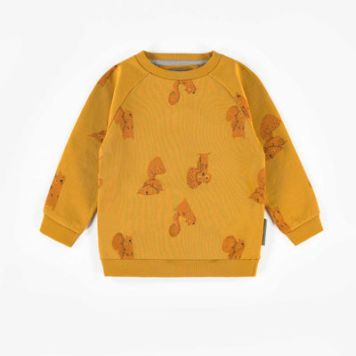 Chandail jaune à motifs, bébé garçon  || Yellow Patterned Sweater, Baby Boy