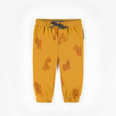 Pantalon jaune à motifs, bébé garçon  || Yellow Patterned Jog Pants, Baby Boy