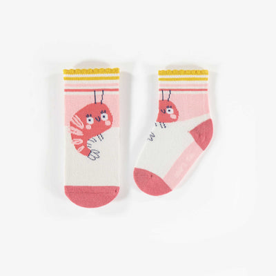 Chaussettes Jolie crevette || Pretty shrimp socks
