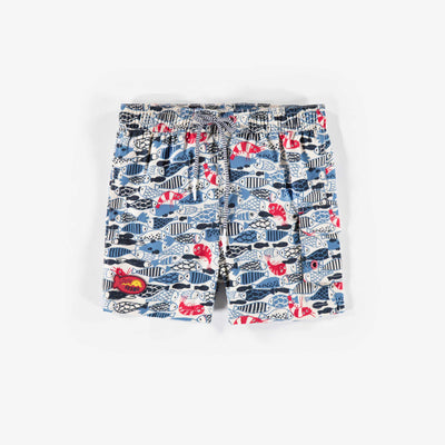 Bermudas de bain – Univers marin, enfant unisexe || Fish Swim Shorts – Fish design, Kid Unisex