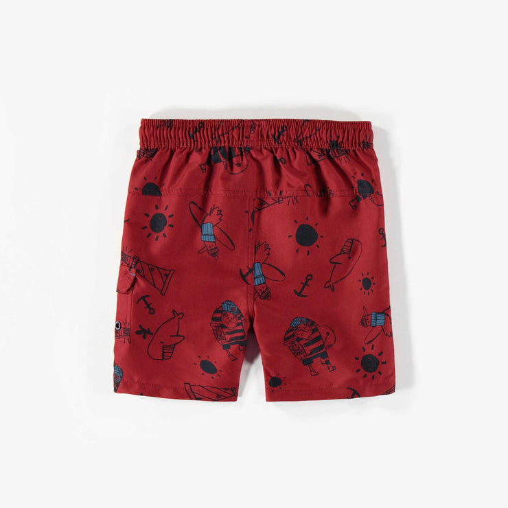 Bermudas de bain rouge – Garçon || Red Swim Shorts – Boy