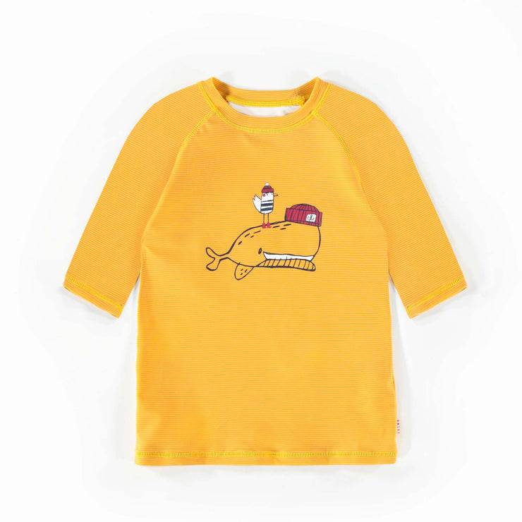 T-shirt de bain jaune à manches courtes, garçon || Yellow Short-sleeve Swim T-shirt, Boy