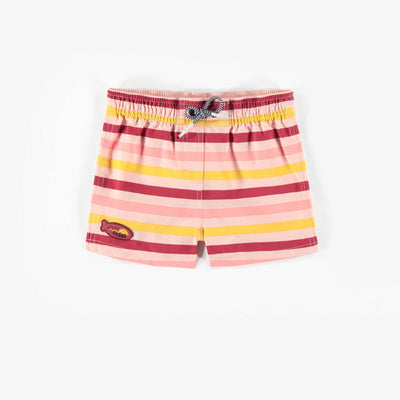 Short de bain rose et jaune, fille || Yellow and Pink Bath Shorts, Girl